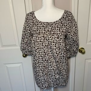 Lilly Pulitzer blouse with elephant motif size 8
